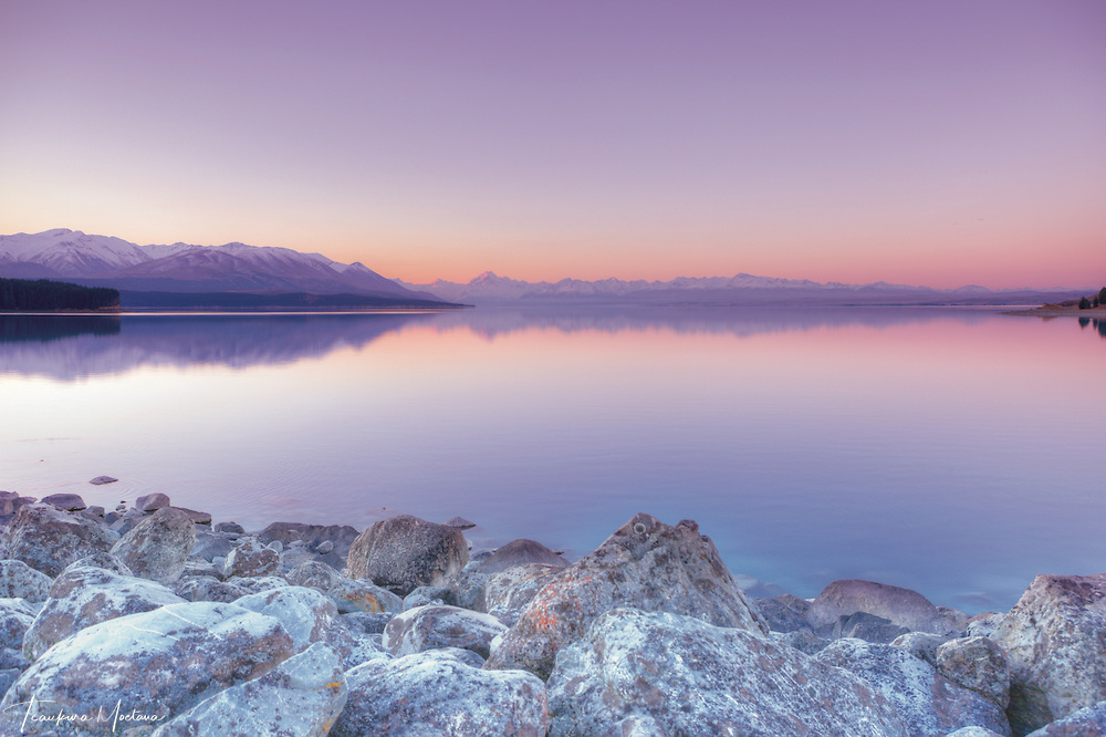 """PINK ICE"" Aoraki / Mount Cook Southern Alps - Mckenzie Country South Canterbury. Height 3,724 metres (12,218 ft)."