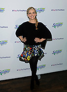 """Sarah Michelle Gellar joins Swiffer as program ambassador for its """"Yes to the Mess"""" event, Wednesday, Feb. 3, 2016, in New York, where kids were encouraged to take part in messy activities that parents typically say """"no"""" to.  (Photo by Diane Bondareff/Invision for Swiffer/AP Images)"""