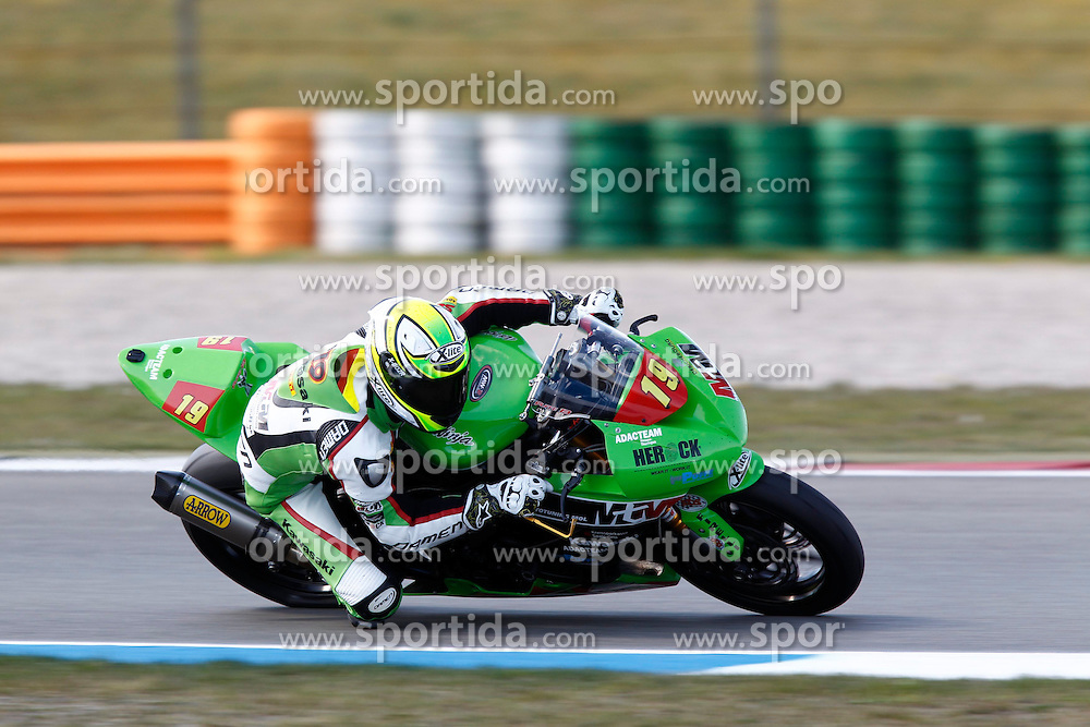 18.04.2015, Assen Circuit, Assen, NED, FIM, Superbike WM, Assen, Qualifying, im Bild 19 Julian Puffe / Deutschland / Team MTM - HS KAWASAKI // during the Qualifying for the FIM Superbike Dutch Grand Prix at the Assen Circuit in Assen, Netherlands on 2015/04/18. EXPA Pictures &copy; 2015, PhotoCredit: EXPA/ Eibner-Pressefoto/ Stiefel<br /> <br /> *****ATTENTION - OUT of GER*****