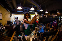 Interior view of the original store of Starbucks in Pike Place Market, Seattle, Washington USA.
