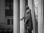 George Washington at Federal Hall, Wallstreet, New York
