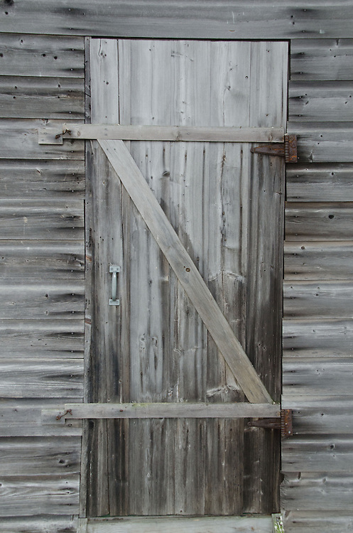 Door on Cabin, Upper Negro Island, Castine, Maine, US