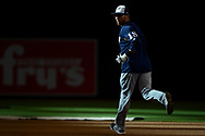 PHOENIX, AZ - JUNE 09:  Eric Sogard #18 of the Milwaukee Brewers runs the bases prior to the MLB game against the Arizona Diamondbacks at Chase Field on June 9, 2017 in Phoenix, Arizona.  (Photo by Jennifer Stewart/Getty Images)