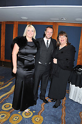 Left to right, NATALIE WALKER, MATT WALBURN and HELEN BOYLE at the 20th CEW (UK) Achiever Awards 2012 - celebrating two decades of women, passion, beauty, held at the Hilton, park Lane, London on 16th October 2012.