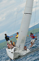 (Karen Bobotas/for the Laconia Daily Sun)Winnipesaukee Yacht Club and Lake Winnipesaukee Sailing Association out on the Lake Wednesday,  July 27, 2011.