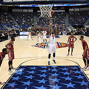 Markus Kennedy, SMU, shoots a free throw during the Temple Vs SMU Semi Final game at the American Athletic Conference Men's College Basketball Championships 2015 at the XL Center, Hartford, Connecticut, USA. 14th March 2015. Photo Tim Clayton