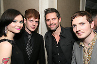 Sophie Ellis Bextor, husband Richard Jones (The Feeling), Jason Orange (Take That) and Dan Gillespie (The Feeling)