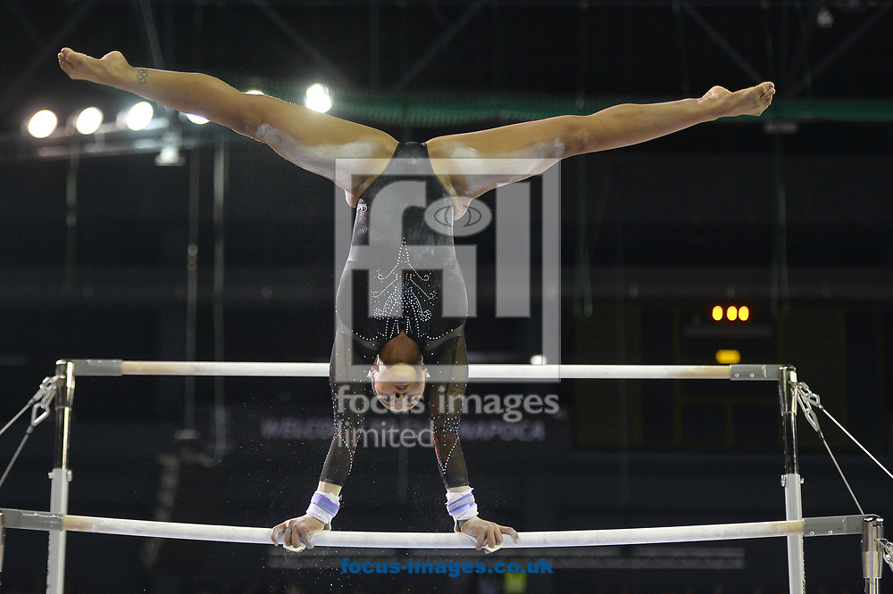 Rebecca Downie on the parallel bars on day four of the Petrom European Men's and Women's Artistic Gymnastics Individual Championships at Polyvalent Hall, Cluj-Napoca, Romania<br /> Picture by Raphael Serres/Focus Images Ltd +40 7445 88839<br /> 22/04/2017