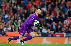 STOKE-ON-TRENT, ENGLAND - Saturday, September 9, 2017: Stoke City's goalkeeper Jack Butland during the FA Premier League match between Stoke City and Manchester United at the Bet365 Stadium. (Pic by David Rawcliffe/Propaganda)