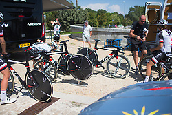 Team Sunweb riders prepare for Stage 1 of the Madrid Challenge - a 12.6 km team time trial, starting and finishing in Boadille del Monte on September 15, 2018, in Madrid, Spain. (Photo by Balint Hamvas/Velofocus.com)