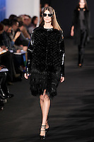 Marie Piovesan walks down runway for F2012 Prabal Gurung's collection in Mercedes Benz fashion week in New York on Feb 10, 2012 NYC