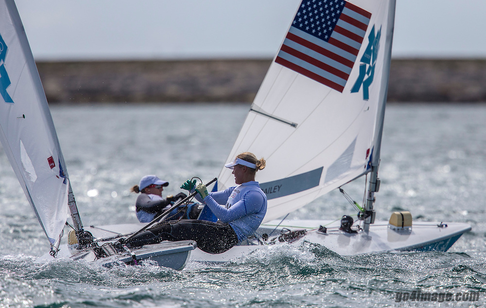 Multala Sari, (FIN, Laser Radial)<br /> Railey Paige, (USA, Laser Radial)<br /> 2012 Olympic Games <br /> London / Weymouth