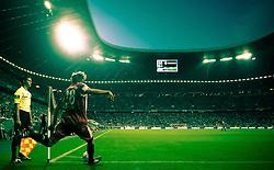 11.09.2010, Allianz Arena, München, GER, 1. FBL, FC Bayern München vs Werder Bremen, im Bild Holger Badstuber, (FC Bayern München, #28), beim Eckball, Bild bearbeitet, EXPA Pictures © 2010, PhotoCredit: EXPA/ J. Feichter