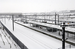 © under license to London News Pictures.2.12.2010 Ebbsfleet International Station in Kent appeared virtually closed today. Picture credit should read Grant Falvey/London News Pictures