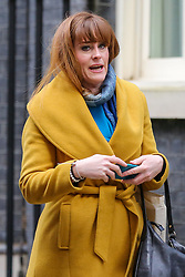 © Licensed to London News Pictures. 10/12/2018. London, UK. Kelly Tolhurst MP for for Rochester and Strood leaves No 10 Downing Street. Photo credit: Dinendra Haria/LNP