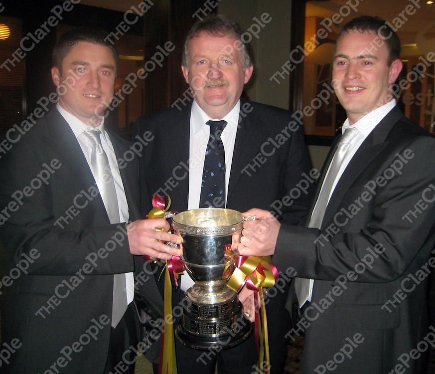 Ray Stuart, Michael O'Neill, Declan Hogan at the Tulla GAA function.