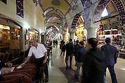 cafe inside the grand bazaar in Istanbul