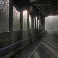 Corwin Nixon covered bridge in Corwin Ohio photographed