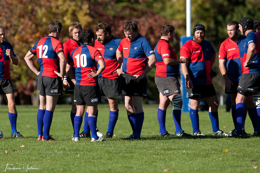 Maniototo Vs Arrowtown during a White Horse Cup rugby match at Jack Reid Park, Arrowtown, New Zealand, Saturday April 14, 2012. Credit: Teaukura Moetaua / Media Sport