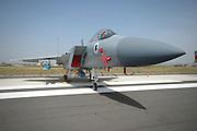 Israel, Tel Nof IAF Base, An Israeli Air force (IAF) exhibition Israeli Air force F-15I Fighter jet