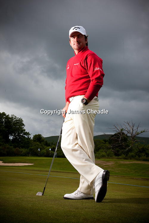 Scottish open 2010 Thursday at Loch Lommond. Graeme McDowell portrait