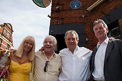 © under license to London News Pictures. 25/06/12..Fellow Pythons and colleagues, Carol Cleveland,Terry Jones, Barry Cryer and Michael Palin(left-right) outside The Angel Inn at the unveiling of a blue plaque to former Monty Python star, Graham Chapman. The memorial has been organised by Chapman's family, friends, and former colleagues, following the news that English Heritage have dropped plans for an 'official' Blue Plaque to the star, due to budget cuts. ..ALEX CHRISTOFIDES/LNP