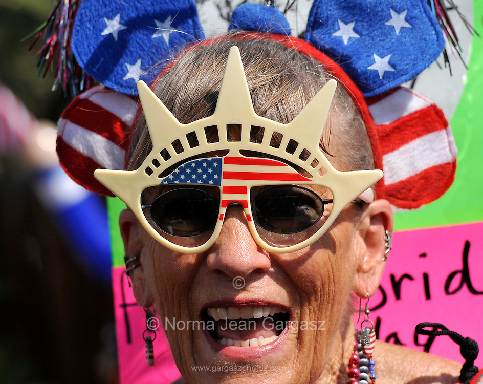 July 4, 2013:  Celebrants in the Palo Verde Neighborhood participate in the 50th annual Fourth of July parade to celebrate the anniversary of the independence of the United States in Tucson, Arizona, USA.  Shari Murphy has been participating in the parade for 35 years.