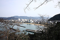 Jan. 21, 2009; Obama, Fukui Prefecture, Japan - View of Obama city from a lookout at Obama Park...(someone needs to trim some trees)