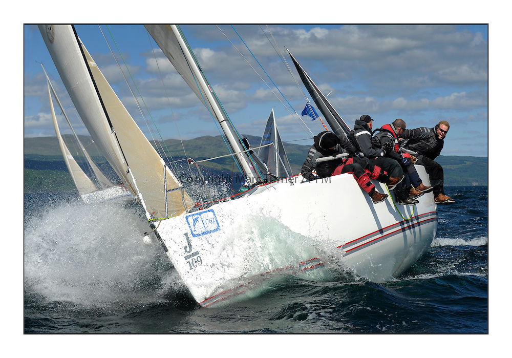 Brewin Dolphin Scottish Series 2012, Tarbert Loch Fyne - Yachting - Day 3 ..IRL1141 ,Storm ,Pat Kelly ,Rush SC ,J109.