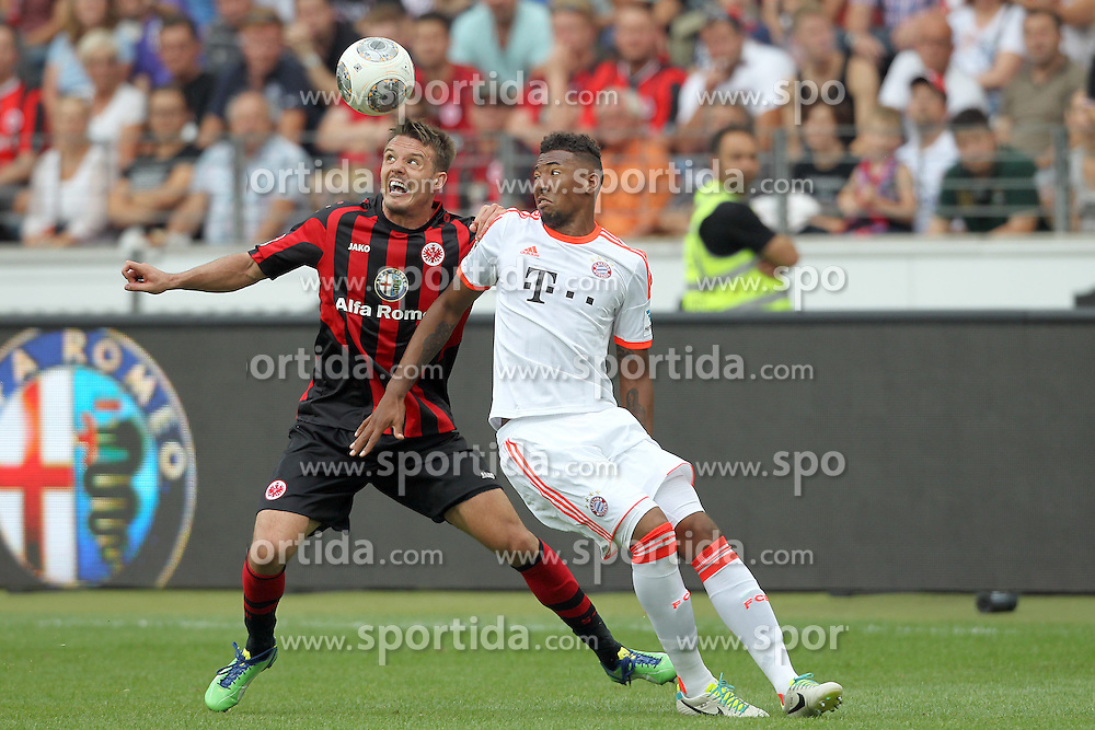 17.08.2013, Commerzbank Arena, Frankfurt, GER, 1. FBL, Eintracht Frankfurt vs FC Bayern Muenchen, 2. Runde, im Bild links: Meier, Alexander (14)/ Eintracht-Frankfurt, rechts: Boateng, Jerome (17)/ FC Bayern Muenchen // during the German Bundesliga 2nd round match between Eintracht Frankfurt and FC Bayern Munich at the Commerzbank Arena, Frankfurt, Germany on 2013/08/17. EXPA Pictures &copy; 2013, PhotoCredit: EXPA/ Eibner/ Kellner<br /> <br /> ***** ATTENTION - OUT OF GER *****