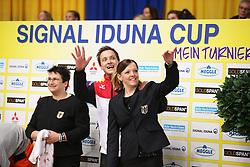 Kaiser, Daniel (GER);<br /> Vorberg, Nina, <br /> Dortmund - Signal Iduna Cup 2016<br /> Voltigieren FEI Weltcup Finale Herren<br /> © www.sportfotos-lafrentz.de / Stefan Lafrentz