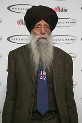 © licensed to London News Pictures. London, UK 12/02/2013. Fauja Singh attends The Oldie of the Year Awards at Simpsons in the Strand on February 12, 2013 in London. Photo credit: Tolga Akmen/LNP
