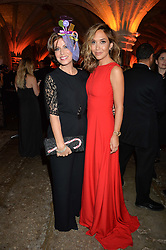 Left to right, NATASHA KAPLINSKY and MYLEENE KLASS at Save the Children's spectacular, black tie Winter Gala, a festive fundraising event held at London's Guildhall. Guests were transported into the magical world of the much-celebrated British novelist, Roald Dahl, in celebration of his centenary, for a marvellous evening of fine dining and gloriumtious entertainment to raise money to help transform children's lives across the world and here in the UK.
