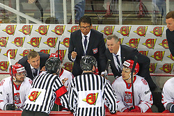 Ted Nolan, head coach of Poland during Ice Hockey match between National Teams of Slovenia and Poland in Round #2 of 2018 IIHF Ice Hockey World Championship Division I Group A, on April 23, 2018 in Budapest, Hungary. Photo by David Balogh / Sportida