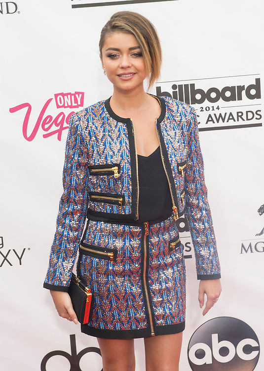LAS VEGAS - MAY 18 :  Actress Sarah Hyland attend the 2014 Billboard Music Awards at the MGM Grand Garden Arena on May 18 , 2014 in Las Vegas.