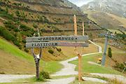 Alpine Landscape Photographed at the Schlick 2000 ski centre, Stubai, Tyrol, Austria in September