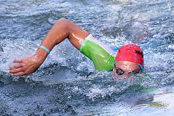 07.07.2019, Klagenfurt, AUT, Ironman Austria, Schwimmen, im Bild Lukasz Wojt (GER) // Lukasz Wojt (GER) during the swimming competition of the Ironman Austria in Klagenfurt, Austria on 2019/07/07. EXPA Pictures © 2019, PhotoCredit: EXPA/ Johann Groder