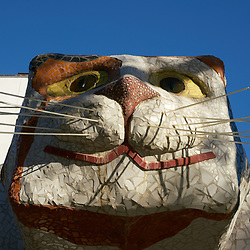 """""""Calico Cat"""", Davis, CA (note this image contains other artist's artwork and can only be used for appropriate uses)"""