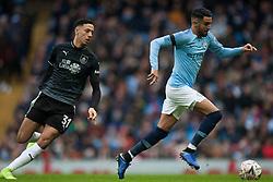 Riyad Mahrez of Manchester City (R) and Dwight McNeil of Burnley in action - Mandatory by-line: Jack Phillips/JMP - 26/01/2019 - FOOTBALL - Etihad Stadium - Manchester, England - Manchester City v Burnley - Emirates FA Cup