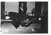 8135. Sleeping at Trinity May Ball, Cambridge. 15 June 1981. © Copyright Photograph by Dafydd Jones 66 Stockwell Park Rd. London SW9 0DA Tel 020 7733 0108 www.dafjones.com