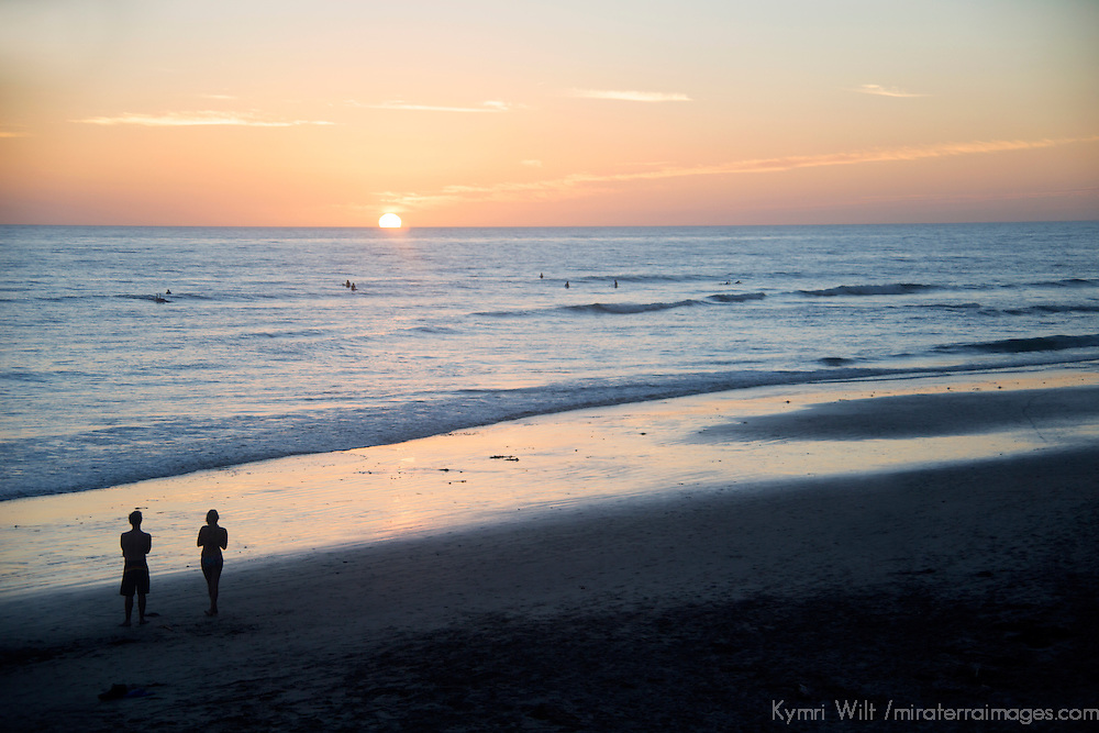 USA, California, San Diego. Swami's Beach at Sunset, Cardiff by the Sea (Encinitas).