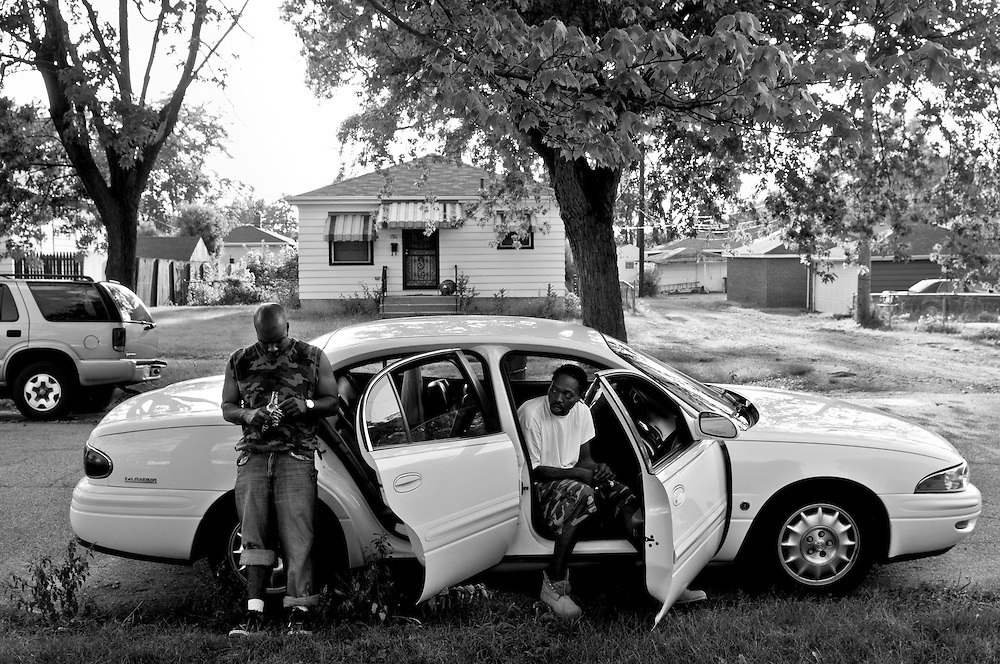 Brian, left, is visited by his friend Ryan, right, in Gary, Indiana. (© William B. Plowman/Redux)