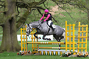 Sarah Hays on Abbeyward Gold during the International Horse Trials at Chatsworth, Bakewell, United Kingdom on 11 May 2018. Picture by George Franks.