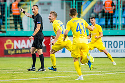 Dario Melnjak of NK Domzale during 1st leg football match between NK Siroki Brijeg and NK Domzale in 1st Qualifying round of UEFA Europa League , on July 12, 2018 in Stadium Pecara, Siroki Brijeg, Bosnia and Herzegovina. Photo by Ziga Zupan / Sportida