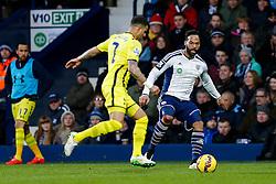 Joleon Lescott of West Brom is challenged by Kyle Walker of Tottenham Hotspur - Photo mandatory by-line: Rogan Thomson/JMP - 07966 386802 - 31/01/2015 - SPORT - FOOTBALL - West Bromwich, England - The Hawthorns - West Bromwich Albion v Tottenham Hotspur - Barclays Premier League.