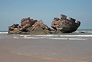 Bordj El Berod, Castles in the Sand, Essaouira, Morocco. Something of a myth that Jimi Hendrix's 'Castles Made of Sand' was written about this castle on the beach at Essaouira.