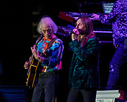 STEVE HOWE (L) and Jon Davison of Yes at Five Point Theater in Irvine, California.