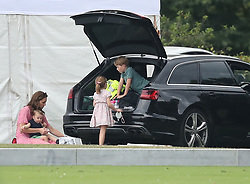 File photo dated 10/07/19 of the Duchess of Cambridge, Prince George, Princess Charlotte and Prince Louis attending the King Power Royal Charity Polo Day at Billingbear Polo Club, Wokingham, Berkshire. Prince Louis of Cambridge, who is celebrating his second birthday on Thursday, was born on patriotic St George???s Day in 2018.