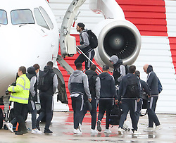 Daley Blind as the Manchester United team fly to Wales on Tuesday morning for their Carabao Cup match against Swansea City