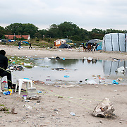 France , Calais, camp for refugees known as 'The Jungle'. September 21st 2015, rather desolate and waterlogged.